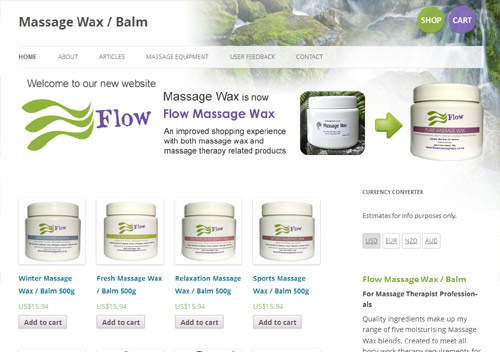 Flow massage wax
